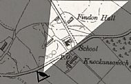 This area went under the name of {Schoolcroft}. The current original cottages of modern Schoolcroft are on the extreme left-hand edge of the image.