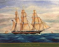 """2.) """"Bound for Liverpool, Cotton Packet Ship Hector, 1834"""