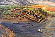 """(3.) """"Launch of Ship Orphan from New City Yard, November 8, 1845,"""""""