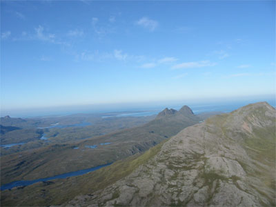 ariel photo of the wilderness of assynt