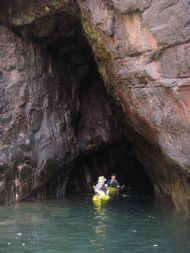 Caving by kayak