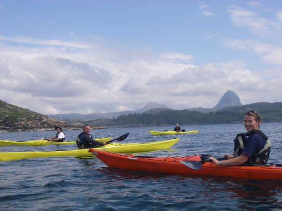 sea kayaking day trip in lochinver