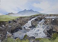 Cuillin from Waterfall