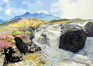 The Cuillin from Allt Dearg Waterfall