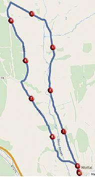 Moffat 15km Route