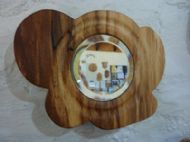 spalted beech cloud mirror