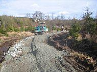 Access route under construction - Achnabreac