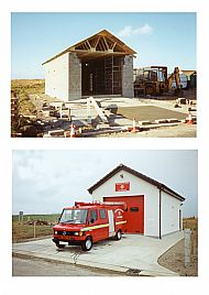 HPA155   New Fire Engine at the new  Fire Station 15th December 1994 (A Thompson)