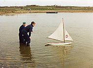 HPA621   Model yacht racing at Roos Loch, 11th May, 1996