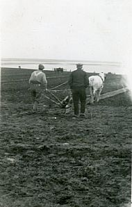HPA076   Ploughing Match 1952. Geordo Brown and Mary Brown's grandpa