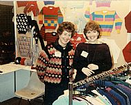 HPA497a   Sanday Knitters, Trade Fair Aviemore, 1985/86