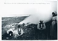 HPA047   Traill Family, Upper Breckan, burning kelp c.1890.