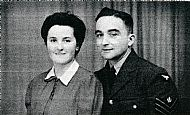HPA107   James Lee (Sergeant, RAF) and Jessie Jane Tuloch Marwick (farmer's daughter) 14th July, 1943