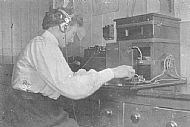 HPA336   Miss R Muir at the telephone exchange