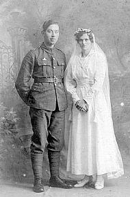 HPA624   Gunner J Foubister & Mrs Foubister nee Helen Sinclair (Kettletoft 1917