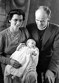 HPA709   Rev. & Mrs Ralston Minister on Sanday during WWII. Agnes Anne is 2 months old.