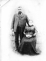 HPA796   John (1850 - 1932) & Williamina. They lived at Nearhouse & Appiehouse. Williamina came from Canker