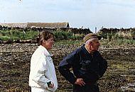HPA799   Sylvia Thorne & William Tulloch, Otterswick Beach below Quivals