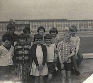 HPA746   Sanday School Primary 4, June 1968 Neil Muir, David Work, Isabel Drever, Irene Grieve, Freddie Tulloch Marie Tulloch, Lillian Scott, Patricia Tulloch, Malcom Sinclair, Tommy Drever