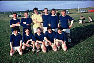 HPA422   Sanday Football Team in Westray, 1967?