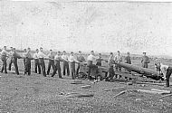 HPA273   Sanday T.A. erecting gun at Colliness (WWI)