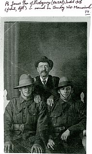 HPA695   Pte James Fea (ANZAC) left, killed 1918