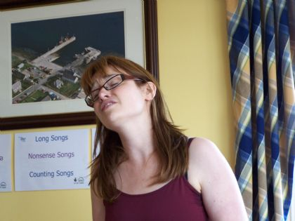 emotions run high as sarah jane sings her version of a poem about her great-grandfather
