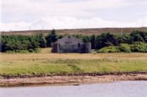 description: the remains of the wartime cinema on flotta - visited by royalty ye'know!