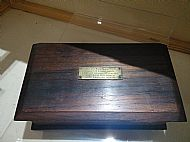 HMS Hampshire - wooden box
