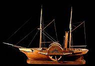 Full hull paddle steamer