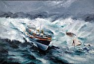 Oil Painting - Longhope Lifeboat