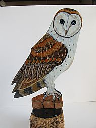 Barn Owl Post Topper