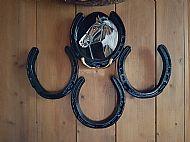 Horse shoe wall hanging