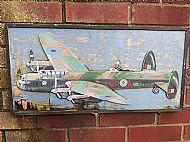 Lancaster bomber plaque