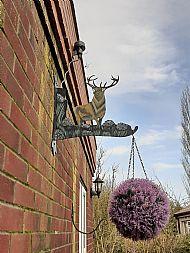 large stag hanging basket holder