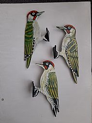 Green woodpecker tree ornaments now in stock