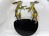 Boxing hares house name plaque