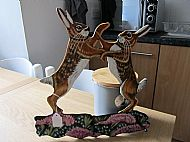 large boxing hares holder three pin