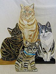 Cat and dog doorstops/ornamental