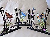 Art nouveau butterfly decorative brackets