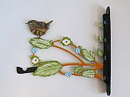 ART NOUVEAU  WREN BIRD FEEDER HANGING BRACKET
