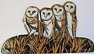 Barn Owl Family Hook Bracket
