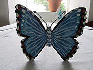 blue butterfly garden stake
