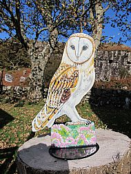 large barn owl post topper