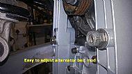 Modified alternator belt tensioner