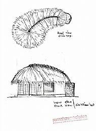 Bungalow designed in Ying / Yang shape