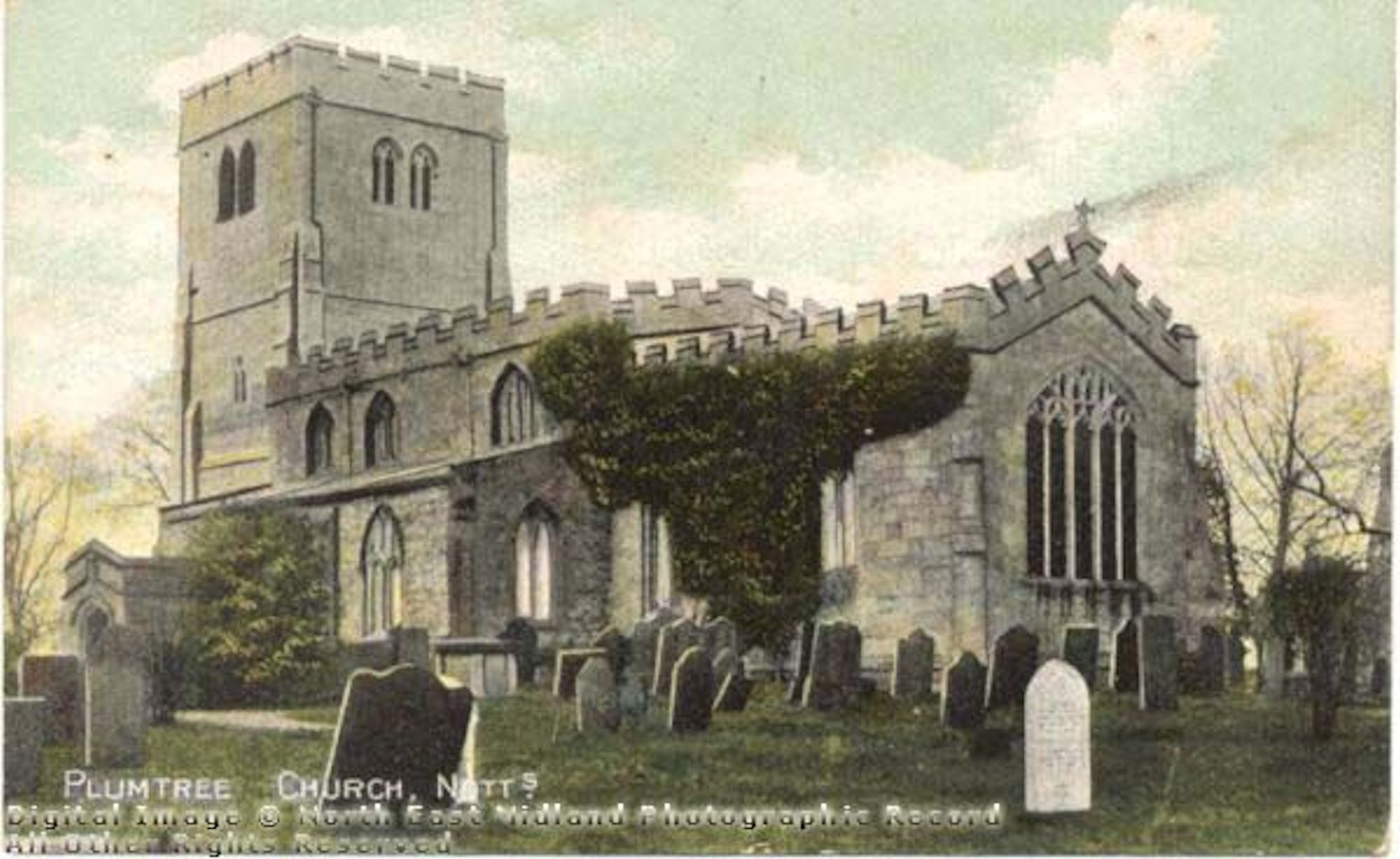 exterior of st mary's plumtree c1900