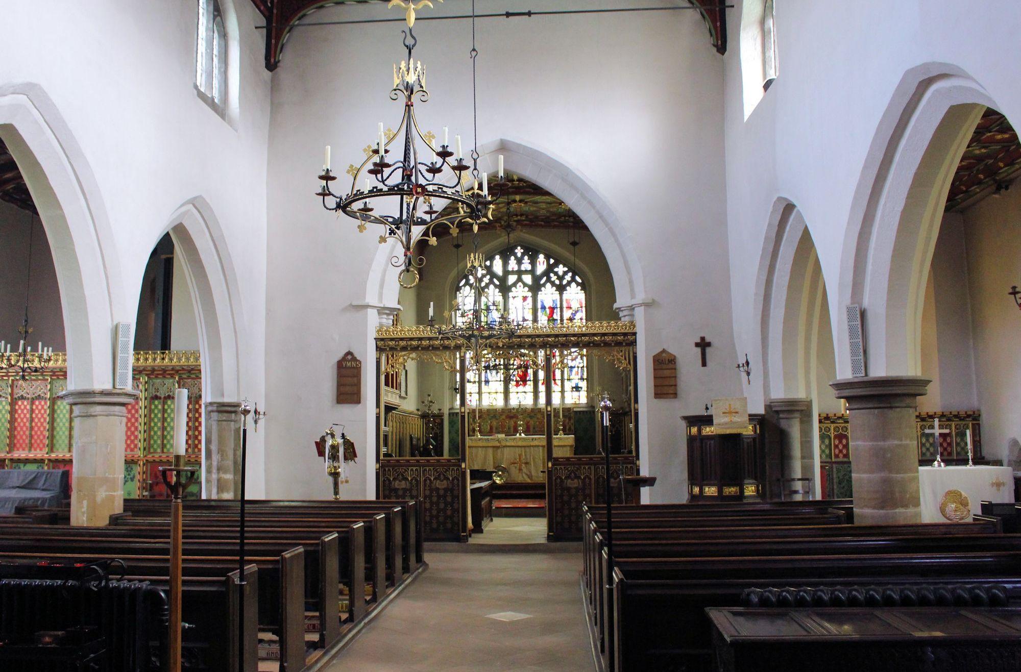 interior of st mary's plumtree 2018