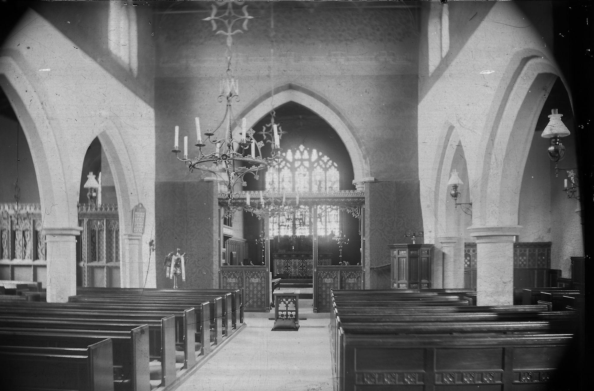 interior of st mary's plumtree c1900