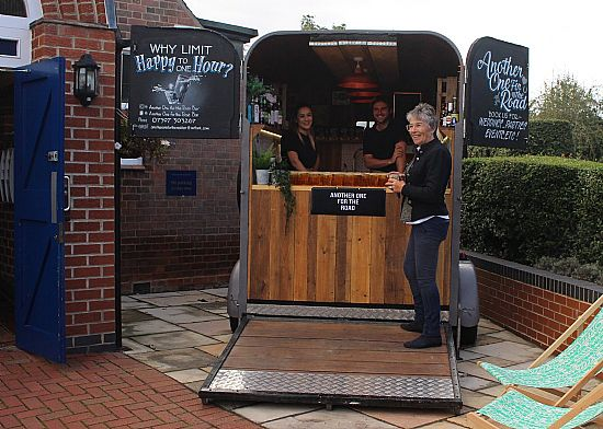 bar in a horse box